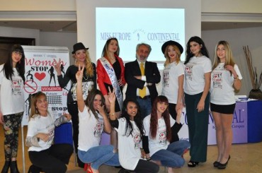 """Women: Stop Violence!"" With this important social message the curtain was raised on the seventh edition of Miss Europe Continental Sicilia"