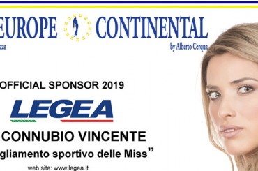 LEGEA, partner of Miss Europe Continental 2019