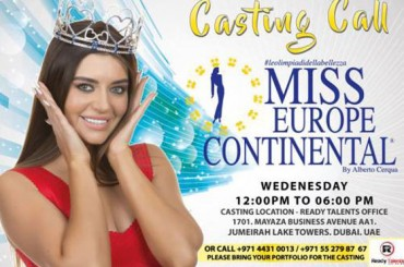Starts Miss Europe Continental 2018