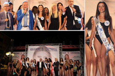 Miss Europe Continental, high podium at San Cataldo for Emanuela Morreale