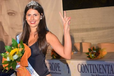 Miss Europe Continental Calabria: Giusy Esposito is the winner of the regional selection in Mileto