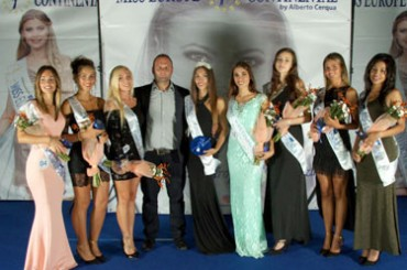 Santo Stefano al Mare: Miss Europe Continental, highest podium for the 18 year old Giorgia Brixel