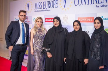 Great success for miss Europe Continental in the UAE