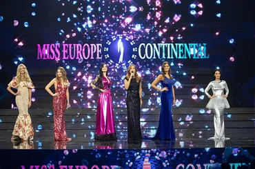 Miss Europe Continental's Miss shines with the clothes of designer Giovanna Ercolano